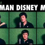 女性も男性もすべて一人だけでディズニーソングを歌いこなす男性