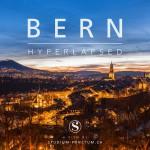 スイスの首都、ベルン市旧市街の美しい夜を微速度撮影したムービー