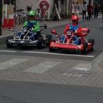 岡山県でマリオ&ルイージが現れてリアルマリオカートをおっ始める