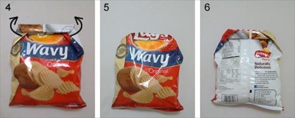 これは便利!ポテトの袋をクリップも輪ゴムも使わずに閉じる方法002