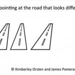 あら不思議 左と右の道路の角度は同じ