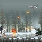 北朝鮮の金正恩氏が敵をバッタバッタと敵を倒しながら進む横スクロールアクションゲーム