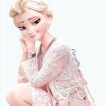 エルサってこんな服も似合うんだ 現代風なファッションをしたディズニーのキャラクター達