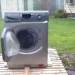 衣類乾燥機を強制パワーアアップ!ドラムに重量物を入れて動かしたらとんでもないことに