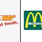 ブランドを象徴するロゴのイメージカラーをライバル同士で入れ変えてみた