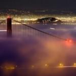 【画像24枚】霧に包まれて幻想的なサンフランシスコの夜景写真