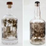 自由自在に煙を操る 瓶に閉じ込めた煙の「スス」で描かれたアート