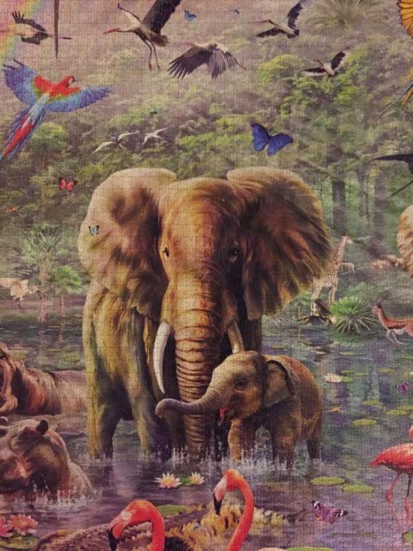 大きさは560cm×170cm! ピース数33600枚の世界最大級のジグソーパズル