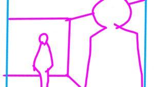 すごく参考になる! 「人物は2人とも160cmで天井が250cmだとするとこの絵はどう直すべき?」美術学校の先生が解説